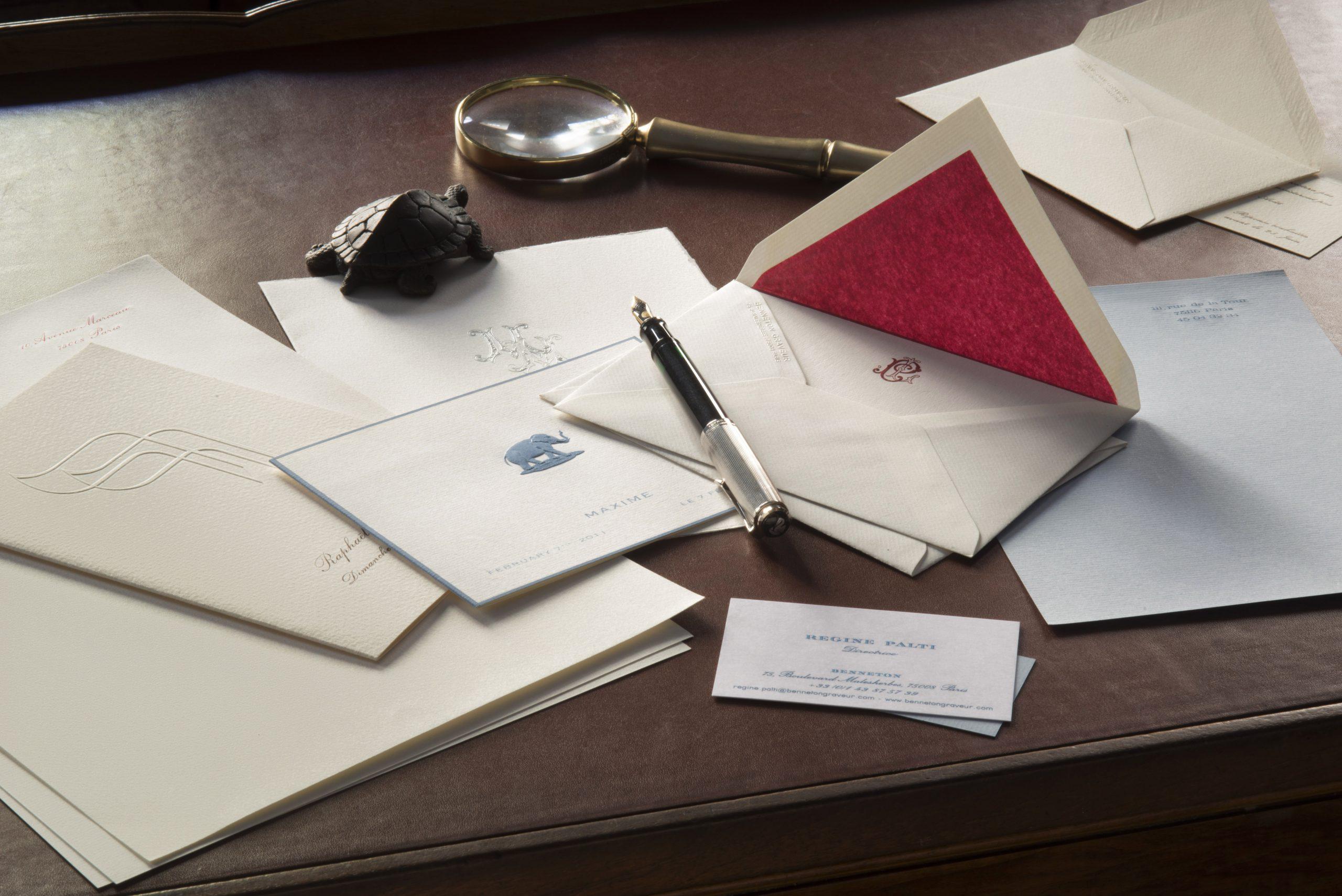 Cartes de correspondance - faire-part - naissance - mariage - baptême - loupe - bronze
