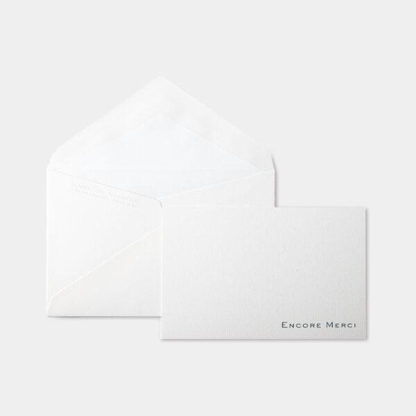 BENNETON GRAVEUR, carte vergé, Encore Merci