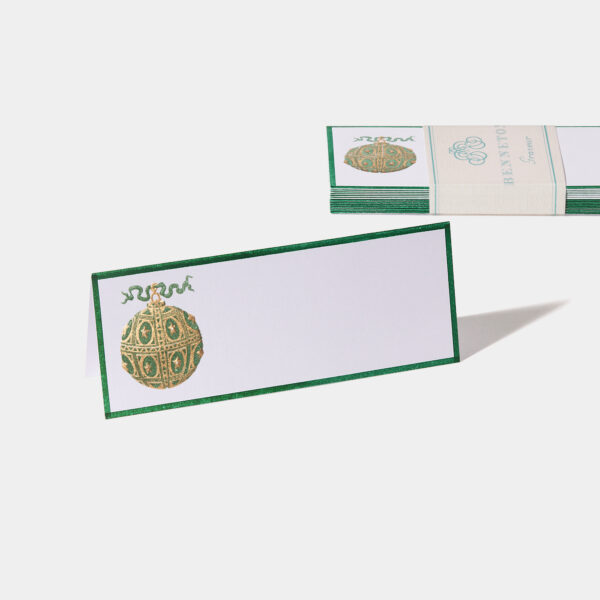 Carte de table chevalet Noël vert