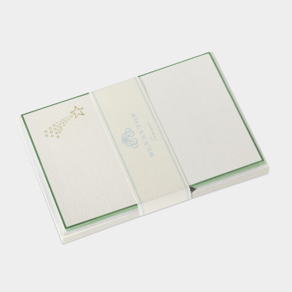 carte de correspondance, papeterie de prestige Benneton graveur, étoile filante